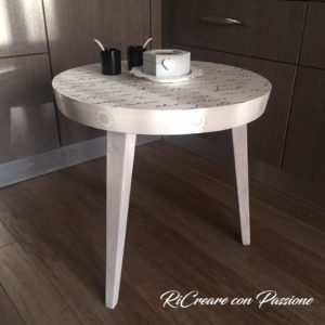 Selena Olioso - Dopo, Cotton White, stencil Chocolate e Cape Cod Grey, Clear Wax e Pearl Wax -